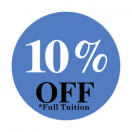 10% OFF Full Tuition Cost!